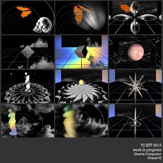 VJ set 2013. Work in progress. GrandVJ + Quartz Composer.